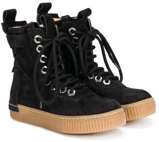Cinzia Araia Kids mid-calf lace-up boots