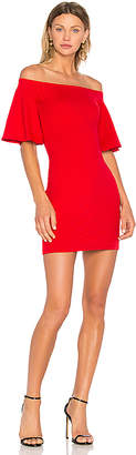 Susana Monaco Flutter Sleeve Dress