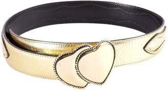 Moschino Gold Leather Belts