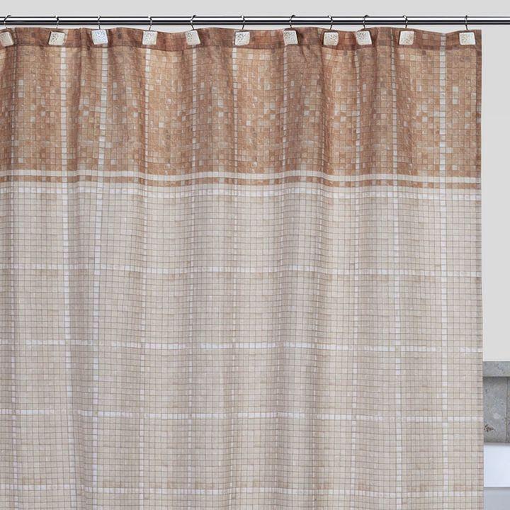 Creative Bath Mosaic Fabric Shower Curtain