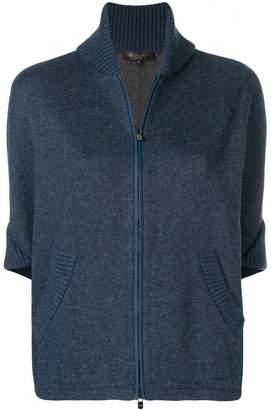 Loro Piana zipped short-sleeve cardigan
