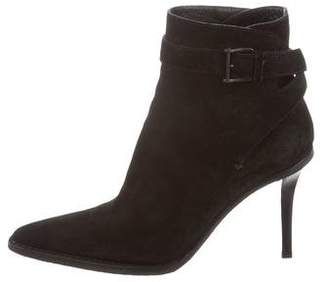 Gucci Suede Pointed-Toe Boots