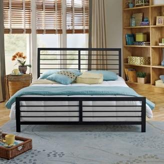 Premier Faith Metal Platform Bed with Bonus Base Wooden Slat Support, Multiple Sizes