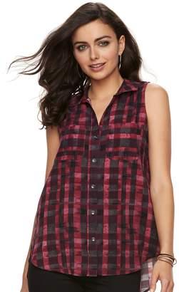Rock & Republic Women's Challis Split-Back Shirt