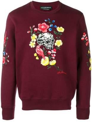 Alexander McQueen skull floral print sweater