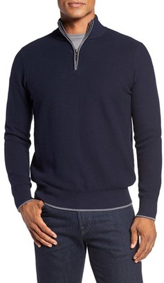 TailorByrd Ahem Waffle Knit Quarter Zip Sweater (Big & Tall) $125 thestylecure.com