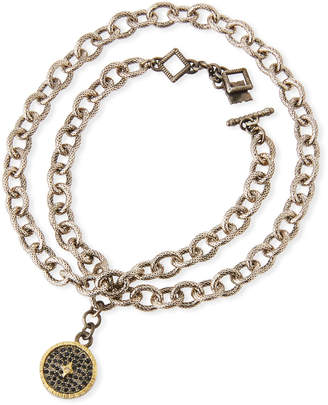 Armenta Old World Chain-Wrap Diamond Disc Bracelet