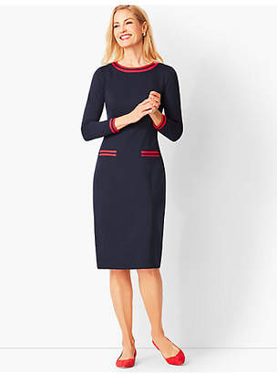 Talbots Grosgrain-Trim Refined Ponte Sheath