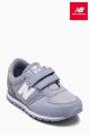 Boys New Balance 420 Velcro - Grey