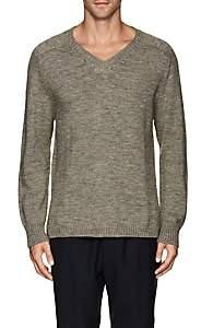 Barneys New York Men's Eco-Wool V-Neck Sweater - Gray