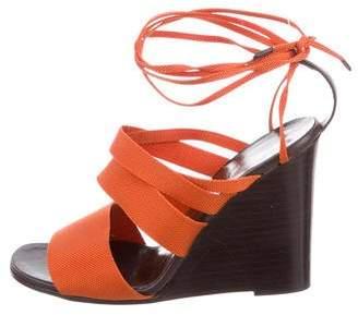 Hermes Woven Wedge Sandals