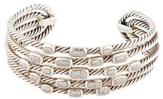 David Yurman Diamond Confetti Wide Cuff