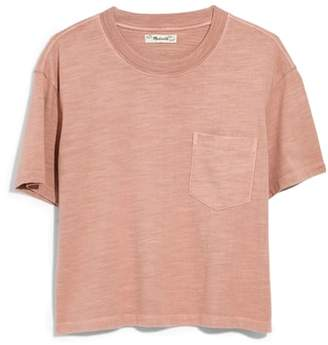 Madewell Garment Dyed Easy Crop Tee