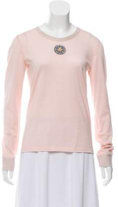 Chanel Cashmere & Silk-Blend Embellished Sweater