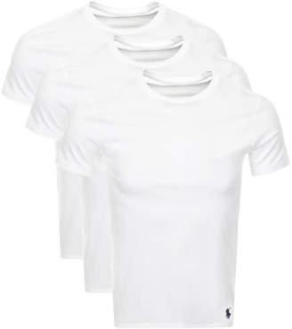 Ralph Lauren 3 Pack Crew Neck T Shirts White