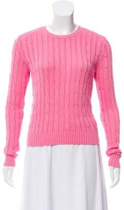 Ralph Lauren Cable-Knit Crew Neck Sweater