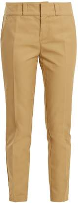 RE/DONE ORIGINALS Mid-rise slim-leg cotton-twill trousers