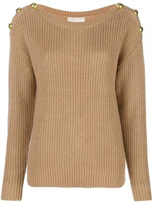 MICHAEL Michael Kors button shoulder sweater