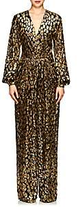 Valentino Women's Leopard-Pattern Wide-Leg Jumpsuit