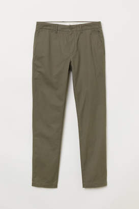 H&M Cotton Chinos Slim fit - Green
