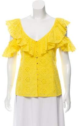 Alice McCall Cold-Shoulder Eyelet Top