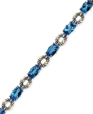 Effy Balissima by Blue Topaz Bracelet in Sterling Silver and 18k Gold (21-1/3 ct. t.w.)