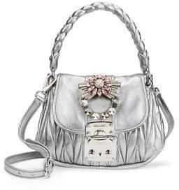 Miu Miu Matelasse Leather Top Handle Bag