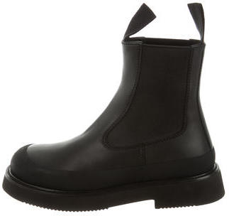 CelineCéline Leather Shearling-Lined Ankle Boots w/ Tags