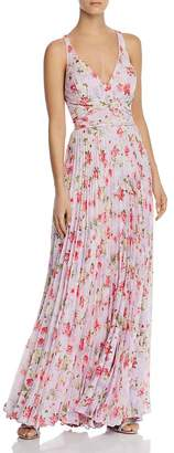Laundry by Shelli Segal Pleated Floral Gown