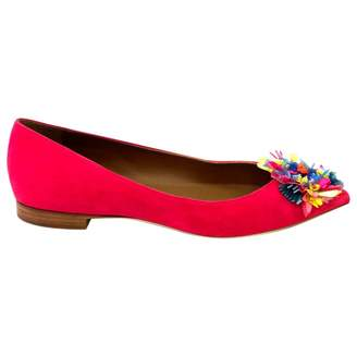Malone Souliers Pink Suede Flats