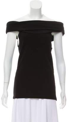 Rosetta Getty Off-The-Shoulder Short Sleeve Top