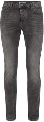 Topman Vintage Grey Stretch Skinny Jeans