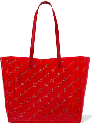 Stella McCartney Faux Leather-trimmed Printed Pu Tote