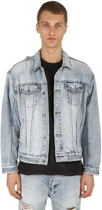 Ksubi Oversize Distressed Chillz Denim Jacket