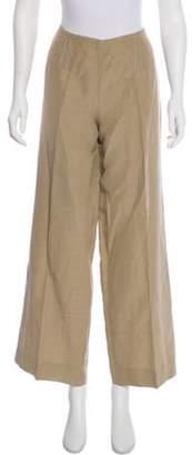 Armani Collezioni Linen High-Rise Pants Beige Linen High-Rise Pants