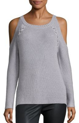 Ramy Brook Issa Cold Shoulder Sweater $325 thestylecure.com