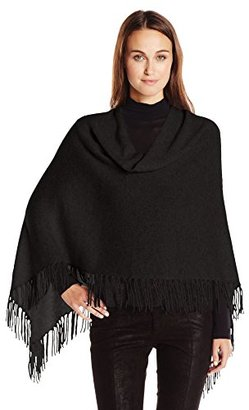 Minnie Rose Women's Cashmere Fringe Ruana $145.19 thestylecure.com