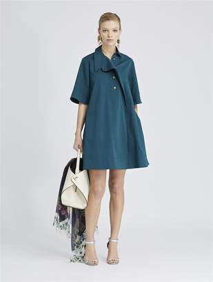 Oscar de la Renta Stretch-Cotton Twill Dress