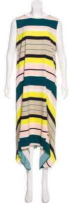 Lafayette 148 Striped High-Low Dress