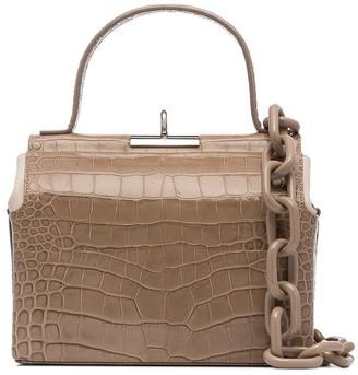Gu_De Chord croc-effect top-handle bag