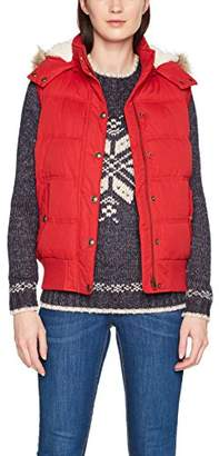 Fat Face Women's Heritage Outdoot Gilet, (Rustic Red)