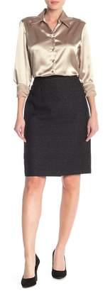 Kasper Metallic Woven Pencil Skirt