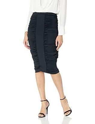 BCBGMAXAZRIA Women's Ruched Pencil Skirt,L