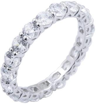 Diamonique 2.70 cttw Eternity Band Ring, Platinum Clad