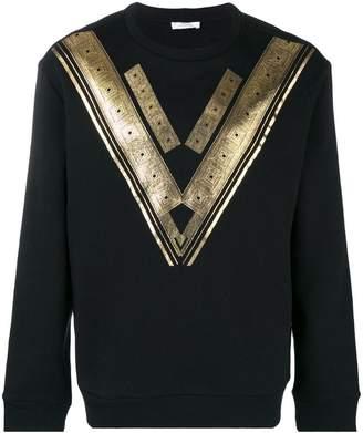 Versace metallic print sweatshirt