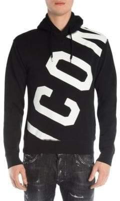 DSQUARED2 Men's Icon Cotton Hoodie - Black - Size Medium