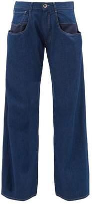 Maison Margiela Exposed Pocket Wide Leg Jeans - Womens - Denim