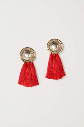 H&M Tasseled Clip Earrings