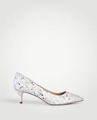 Ann Taylor Reese Exotic Embossed Leather Pumps
