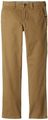 VISSLA Kids High Tider Pants Slim Fit Stretch Twill 28 Boy's Casual Pants